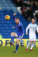 Aron Gunnarsson of Cardiff city in action. EFL Skybet championship match, Cardiff city v Aston Villa at the Cardiff City Stadium in Cardiff, South Wales on Monday 2nd January 2017.<br /> pic by Andrew Orchard, Andrew Orchard sports photography.