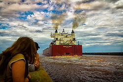Duluth is a port city in the U.S. state of Minnesota and is the county seat of Saint Louis County and is the fourth largest city in Minnesota...The Edgar B. Speer was built in two sections in 1980 and passes through Duluth Port. The Edgar B. Speer can load 73,700 tons of cargo.