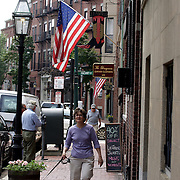 BOSTON, MASS- July 13, 2005:  Visitors to the Beacon Hill area of  Boston, Massachusetts shop amid the stores on July 13, 2005. (Photo by Todd Bigelow/Aurora)