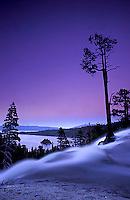 Twilight at Eagle Falls.  Emerald Bay, Lake Tahoe, CA<br />