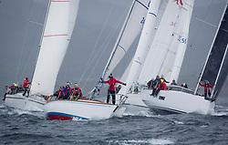 Clyde Cruising Club's Scottish Series 2019<br /> 24th-27th May, Tarbert, Loch Fyne, Scotland<br /> <br /> Day 2 Wet & Wild on Loch Fyne.<br /> GBR2496, Valhalla of Ashton , CCC , Swan 36, GBR5005C, Reflection,  RNCYC, Elan GT5<br /> <br /> <br /> Credit: Marc Turner / CCC