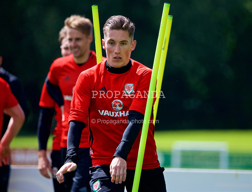 CARDIFF, WALES - Wednesday, June 7, 2017: Wales' Harry Wilson during a training session at the Vale Resort ahead of the 2018 FIFA World Cup Qualifying Group D match against Serbia. (Pic by David Rawcliffe/Propaganda)