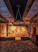 Interior detail of the DeGrazia Chapel in the Sun, Tucson, AZ.