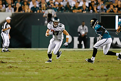 Philadelphia Eagles tight end Brent Celek #87 runs the ball during the NFL game between the Jacksonville Jaguars and the Philadelphia Eagles on August 27th 2009. The Eagles won 33-32 at Lincoln Financial Field in Philadelphia, Pennsylvania.  (Photo By Brian Garfinkel)