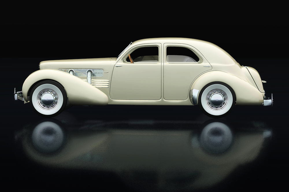 The Cord 812 is known as the villain's car in police movies that go back to the 1930s and 1940s. The Cord 812 is the getaway car in bank robberies or when a murder is committed. The Cord 812 still has supporters who like to convert it into the Cord 812 Lone Runner. -<br /> BUY THIS PRINT AT<br /> <br /> FINE ART AMERICA<br /> ENGLISH<br /> https://janke.pixels.com/featured/1-cord-812-from-1930-lateral-view-jan-keteleer.html<br /> <br /> WADM / OH MY PRINTS<br /> DUTCH / FRENCH / GERMAN<br /> https://www.werkaandemuur.nl/nl/shopwerk/Cord-812-Sedan-1936/737392/132?mediumId=11&size=75x50<br /> <br /> -