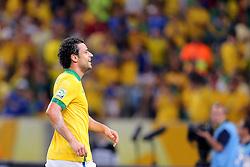 Fred comemora gol na partida entre Brasil e Espanha válida pela final da Copa das Confederações 2013, no estádio Maracanã, no Rio de Janeiro. FOTO: Jefferson Bernardes/Preview.com