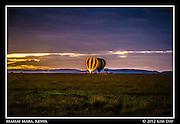 Balloons Ready For Take Off At Dawn.Maasai Mara, Kenya.September 2012