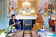 DEN HAAG, 01-07-2021, Paleis Huis ten Bosch <br /> <br /> Koningin Maxima spreekt in Paleis Huis ten Bosch met de minister van Buitenlandse Zaken van de Republiek Indonesië, Retno Marsudi, over financiele inclusie in relatie tot het aanstaande G20 voorzitterschap van Indonesie. Koningin Máxima is speciale pleitbezorger van de secretaris-generaal van de Verenigde Naties voor inclusieve financiering voor ontwikkeling (UNSGSA) en erevoorzitter van het Mondiale Samenwerkingsverband voor Financiële Inclusie (GPFI) van de G20. <br /> FOTO: Brunopress/Patrick van Emst<br /> <br /> Queen Maxima speaks in Huis ten Bosch Palace with the Minister of Foreign Affairs of the Republic of Indonesia, Retno Marsudi, about financial inclusion in relation to the upcoming G20 presidency of Indonesia. Queen Máxima is the United Nations Secretary-General's Special Advocate for Inclusive Finance for Development (UNSGSA) and Honorary President of the G20 Global Partnership for Financial Inclusion (GPFI).
