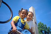 Friends at the playground age 4.  St Paul  Minnesota USA