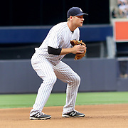 NEW YORK, NEW YORK - July 10: Chase Headley #12 of the New York Yankees fielding at third base during the Boston Red Sox Vs New York Yankees regular season MLB game at Yankee Stadium on July 10, 2016 in New York City. (Photo by Tim Clayton/Corbis via Getty Images)