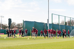 LIVERPOOL, ENGLAND - Monday, February 18, 2019: Liverpool's players during a training session at Melwood ahead of the UEFA Champions League Round of 16 1st Leg match between Liverpool FC and FC Bayern München. (Pic by Paul Greenwood/Propaganda)