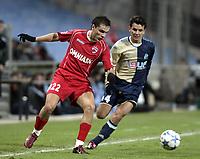 Fotball<br /> Foto: Dppi/Digitalsport<br /> NORWAY ONLY<br /> <br /> FOOTBALL - UEFA CUP 2005/2006 - GROUP STAGE - GROUP F - OLYMPIQUE MARSEILLE v DINAMO BUCAREST - 14/12/2005<br /> <br /> VLAD MUNTEANU (DIN) / DEMETRIUS FERREIRA (OM)
