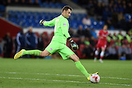 Cardiff city goalkeeper David Marshall. Skybet football league championship match, Cardiff city v Ipswich Town at the Cardiff city stadium in Cardiff, South Wales on Tuesday 21st October 2014<br /> pic by Andrew Orchard, Andrew Orchard sports photography.