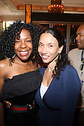 24 June 2010- Miami Beach, Florida- l to r: Andrea Kelly and Melanie Sharee at the The 2010 American Black Film Festival Founder's Brunch held at Emeril's on June 24, 2010. Photo Credit: Terrence Jennings/Sipa