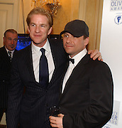 Mathew Modine and Christian Slater. Laurence Oliver Awards, Hilton Hotel. 26 February 2006. ONE TIME USE ONLY - DO NOT ARCHIVE  © Copyright Photograph by Dafydd Jones 66 Stockwell Park Rd. London SW9 0DA Tel 020 7733 0108 www.dafjones.com
