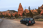USA, Utah, Dixie National Forest, Jeep Patriot at Red Canyon