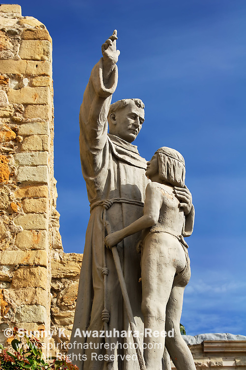 Statue of Father Serra and Indian Boy