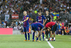August 7, 2017 - Barcelona, Spain - Andres Iniesta of FC Barcelona during the match between FC Barcelona vs Chapecoense, for the Joan Gamper trophy, played at Camp Nou Stadium on 7th August 2017 in Barcelona, Spain. (Credit: Urbanandsport / NurPhoto) (Credit Image: © Urbanandsport/NurPhoto via ZUMA Press)