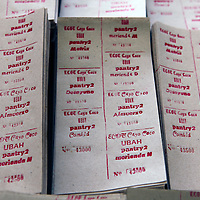 Central America, Cuba, Caibarien. Printed Meal Tickets will be distributed to employees in Cuba.