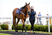 Essaka ridden by Sophie Ralston and trained by Tony Carroll  - Mandatory by-line: Robbie Stephenson/JMP - 18/07/2020 - HORSE RACING- Bath Racecourse - Bath, England - Bath Races 18/07/20