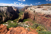 View from Observation Point, Zion National Park, located in the Southwestern United States, near Springdale, Utah.