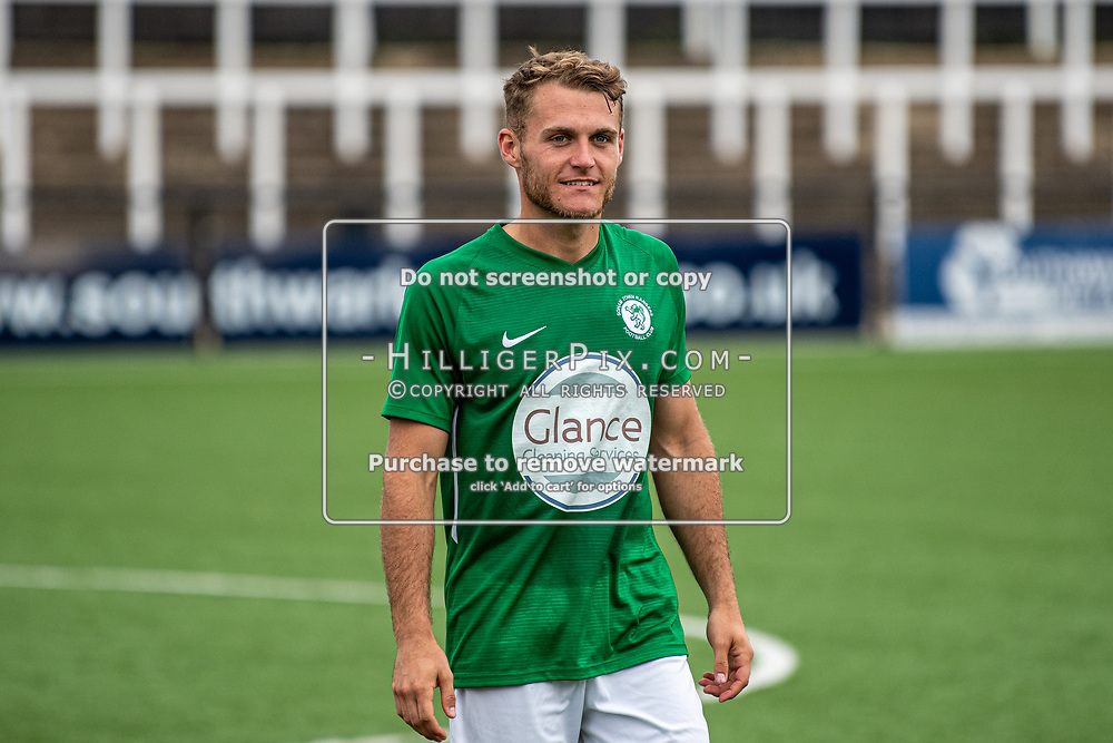 BROMLEY, UK - SEPTEMBER 22: Toby Andrews, of Soham Town Rangers, after the Emirates FA Cup Second Round Qualifier match between Cray Wanderers and Soham Town Rangers at Hayes Lane on September 22, 2019 in Bromley, UK. <br /> (Photo: Jon Hilliger)