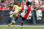 Feyenoord-player Tyrell Malacia (R) and Excelsior-player Jeffrey Fortes (L) during the Dutch football Eredivisie match between Feyenoord and Excelsior at De Kuip Stadium in Rotterdam, on August 19th, 2018 - Photo Stanley Gontha / Pro Shots / ProSportsImages / DPPI