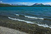 Kluane Lake and the Ruby Ranges<br /> Kluane National Park<br /> Yukon<br /> Canada