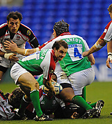 Reading, GREAT BRITAIN, Paul HODGSON moves the ball back, during the third round Heineken Cup game, London Irish vs Ulster Rugby, at the Madejski Stadium, Reading ENGLAND, Sat 09.12.2006. [Photo Peter Spurrier/Intersport Images]