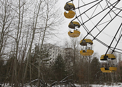 December 22, 2016 - Kiev, Ukraine - The observation wheel in the deserted town of Pripyat,two kilometers from the Chernobyl nuclear power plant, Ukraine, on 22 December,2016. The explosion of Unit four of the Chernobyl nuclear power plant on 26 April 1986 is still regarded the biggest accident of nuclear power generation  in the history. (Credit Image: © Serg Glovny via ZUMA Wire)