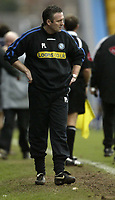 Photo: Aidan Ellis.<br /> Mansfield Town v Wycombe Wanderers. Coca Cola League 2. 24/02/2007.<br /> Wycombe manager Paul Lambert looks down beat after Mansfield's wiining goal
