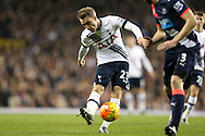 Christian Eriksen of Tottenham Hotspur takes a shot for goal. Barclays Premier league match, Tottenham Hotspur v Newcastle Utd at White Hart Lane in London on Sunday 13th December 2015.<br /> pic by John Patrick Fletcher, Andrew Orchard sports photography.
