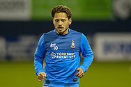 Bradford City midfielder Jack Payne (10) on loan from Huddersfield Town, warms up before the EFL Sky Bet League 1 match between Luton Town and Bradford City at Kenilworth Road, Luton, England on 27 November 2018.
