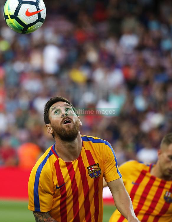 August 7, 2017 - Barcelona, Spain - Leo Messi during the friendy Joan Gamper trophy match between F.C. Barcelona v Chapecoense, in Barcelona, on August 07, 2017. Photo: JoanValls/Urbanandsport/Nurphoto  (Credit Image: © Urbanandsport/NurPhoto via ZUMA Press)