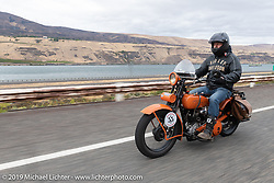Motorcycle Cannonball coast to coast vintage run. Stage 14 (303 miles) from Spokane, WA to The Dalles, OR. Saturday September 22, 2018. Photography ©2018 Michael Lichter.