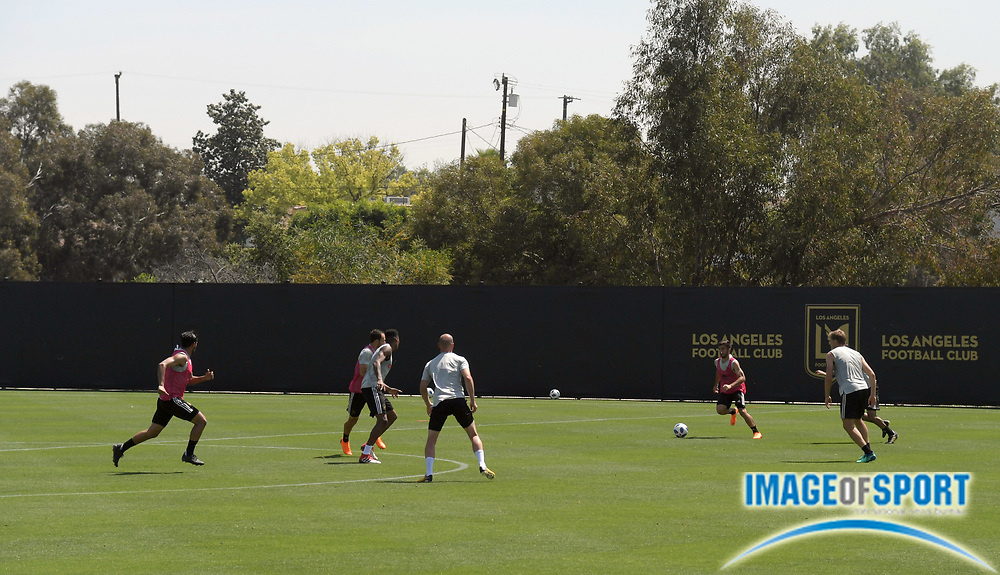 Apr 10, 2018; Los Angeles, CA, USA; General overall view of LAFC  practice at Cal State LA.