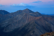 Dawn of a new day on Huron Peak 14,003ft a fourteener in the Sawatch Range of Colorado.