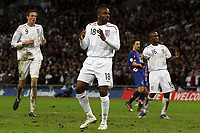 Photo: Paul Thomas/Sportsbeat Images.<br />England v Croatia. UEFA European Championships Qualifying. 21/11/2007.<br /><br />Darren Bent (C) of England can't believe his luck.