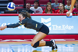 BLOOMINGTON, IL - September 14:  Dresi Pass during a college Women's volleyball match between the ISU Redbirds and the University of Central Florida (UCF) Knights on September 14 2019 at Illinois State University in Normal, IL. (Photo by Alan Look)