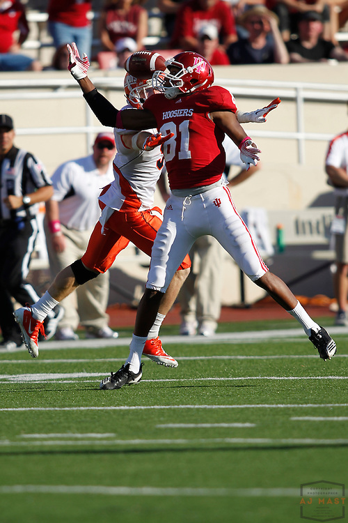 08 October 2011: Indiana Hoosiers wide receiver Duwyce Wilson (81) as the Illinois Fighting Illini  played the Indiana Hoosiers in a college football game in Bloomington, Ind.