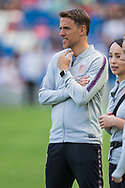 Phil Neville, Head Coach of England FC ahead of the FIFA Women's World Cup UEFA warm up match between England Women and New Zealand Women at the American Express Community Stadium, Brighton and Hove, England on 1 June 2019.