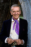 Legendry American filmstar and dancer Fred Astaire seen on the filmset of 'Purple Taxi' in Ireland in November 1976. Photographed by Terry Fincher