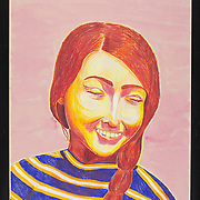 Title: And She Was Happy<br /> Artist: Sarah Gabriela Swedlow<br /> Date: 2019<br /> Medium: Colored pencil<br /> Dimensions: 19.5 x 25.5<br /> Instructor: Melanie Hickerson<br /> Status: On Display<br /> Location: Cypress Creek Campus Commons, Building 1000