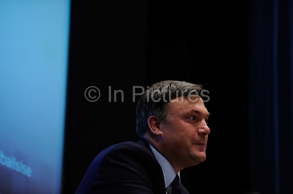 Ed Balls, Shadow Chancellor of the Exchequer speaking at the London School of Economics on June 16th 2011 in London, United Kingdom. Ed Balls, is a British Labour Party and Co-operative Party politician. He was the Member of Parliament MP for Normanton from 2005 to 2010 and for Morley and Outwood from 2010 to 2015.