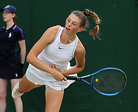 Lawn Tennis - 2021 All England Championships - Week Two - Thursday - Wimbledon - Girls event . Alicia Dudeney v Sofia Costoulas <br /> <br /> Alicia Dudeney  of GBR<br /> <br /> Credit : COLORSPORT/Andrew Cowie