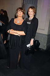 Left to right, LADY ANNABEL GOLDSMITH and LADY VICTORIA GETTY at the Conservative Party's Black & White Ball held at Old Billingsgate, 16 Lower Thames Street, London EC3 on 8th February 2006.<br /><br />NON EXCLUSIVE - WORLD RIGHTS