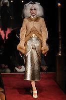 Duran walks the runway wearing Thom Browne Fall 2014 Collection, <br /> Thom Browne (Designer)<br /> Jimmy Paul (Hair Stylist)<br /> Sil Bruinsma (Makeup Artist)<br /> Edward Kim (Casting Director)<br /> Julie Kandalec (Manicurist)