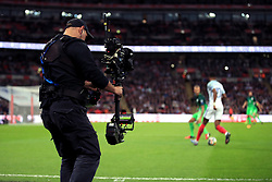 A general view as a steady cam operator films the game during the 2018 FIFA World Cup Qualifying, Group F match at Wembley Stadium, London.