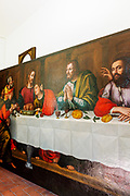 FLORENCE: restorer Rossella Rari's studio. the last supper