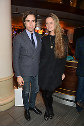 DIEGO BIVERO-VOLPE and BRYONY DANIELS at the fourth annual Fayre of St James's charity Christmas concert hosted by the Quintessentially Foundation and The Crown Estate in partnership with Deutsche Asset & Wealth Management held at  St James's Church, 197 Piccadilly, London followed by a party at Quaglino's 16 Bury Street, London on 24th November 2015.